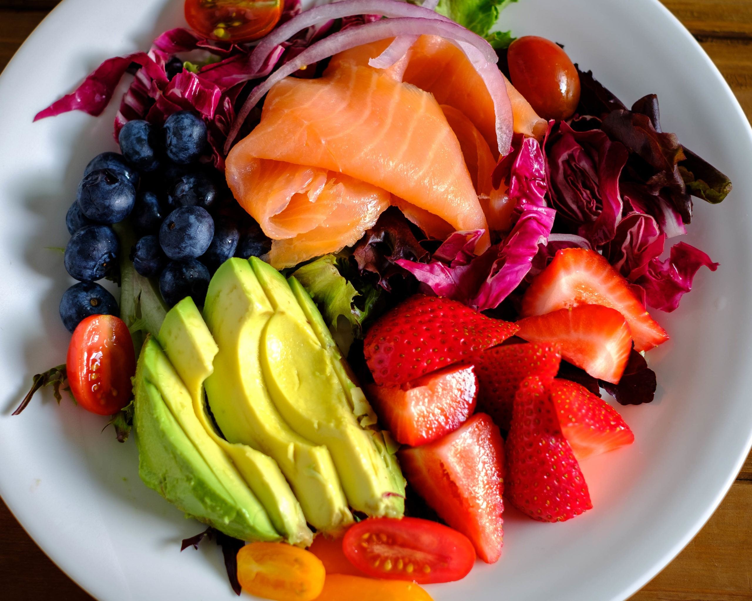 Smoked Salmon and Fruit Salad