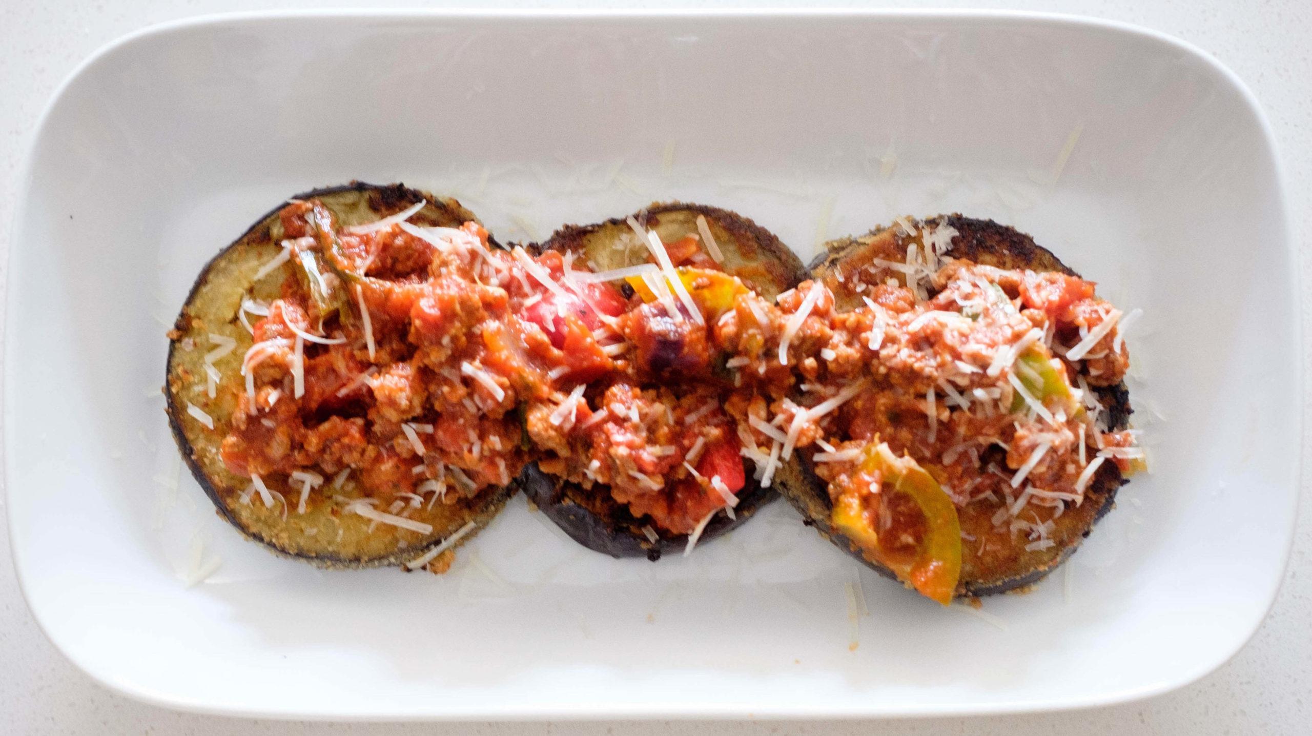 eggplant and marinara sauce