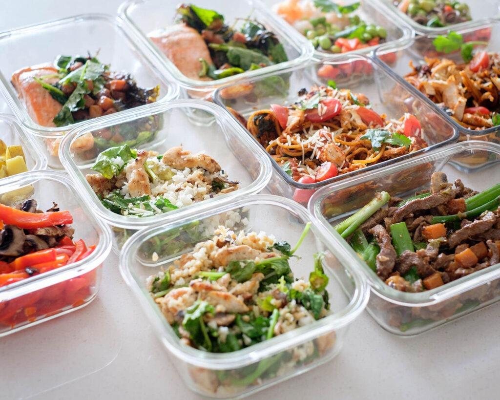 meal prep food
