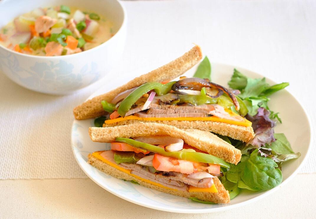 beef deli sandwich