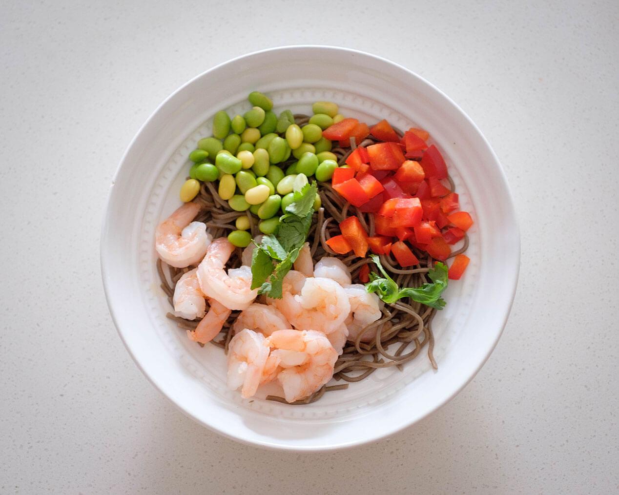 shrimp soba noodle