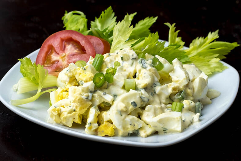 egg salad and celery