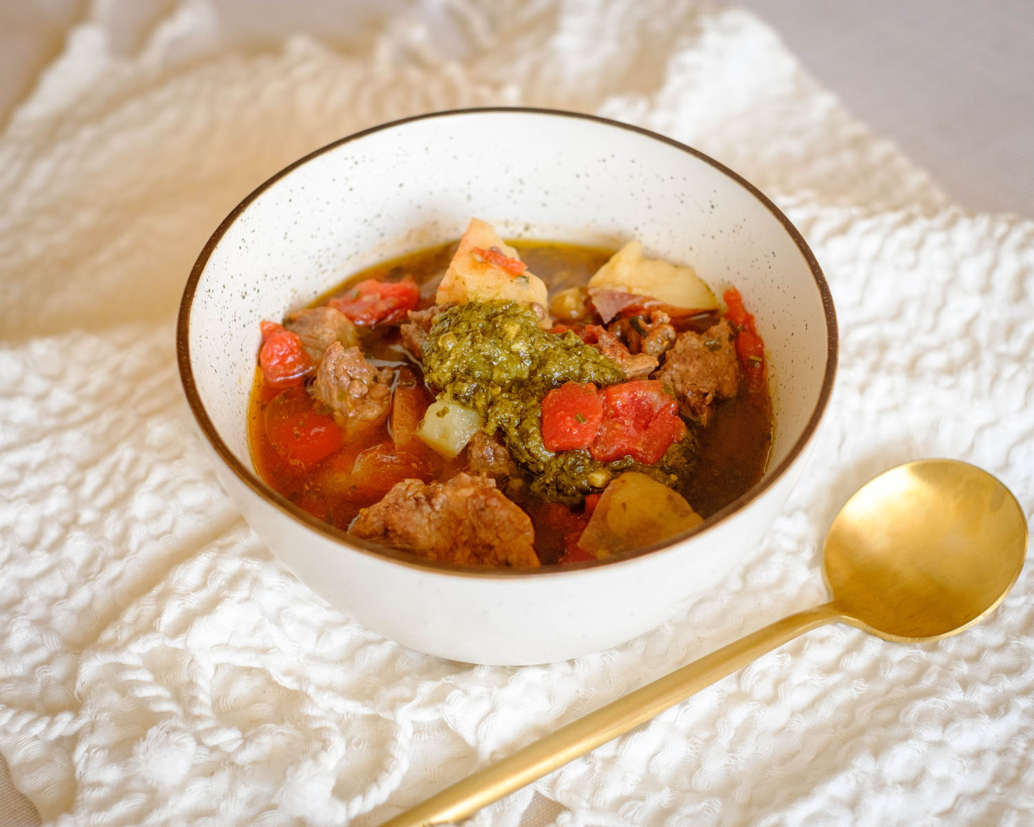 basil pesto stew