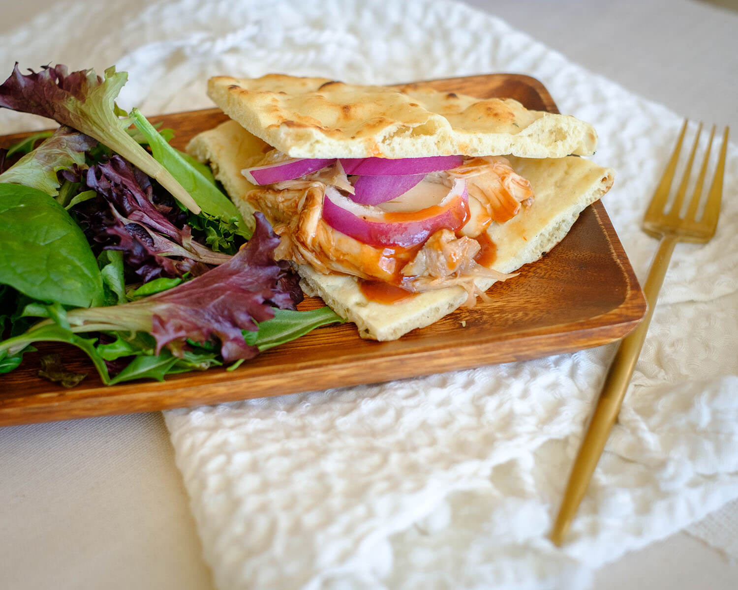 bbq chicken flatbread