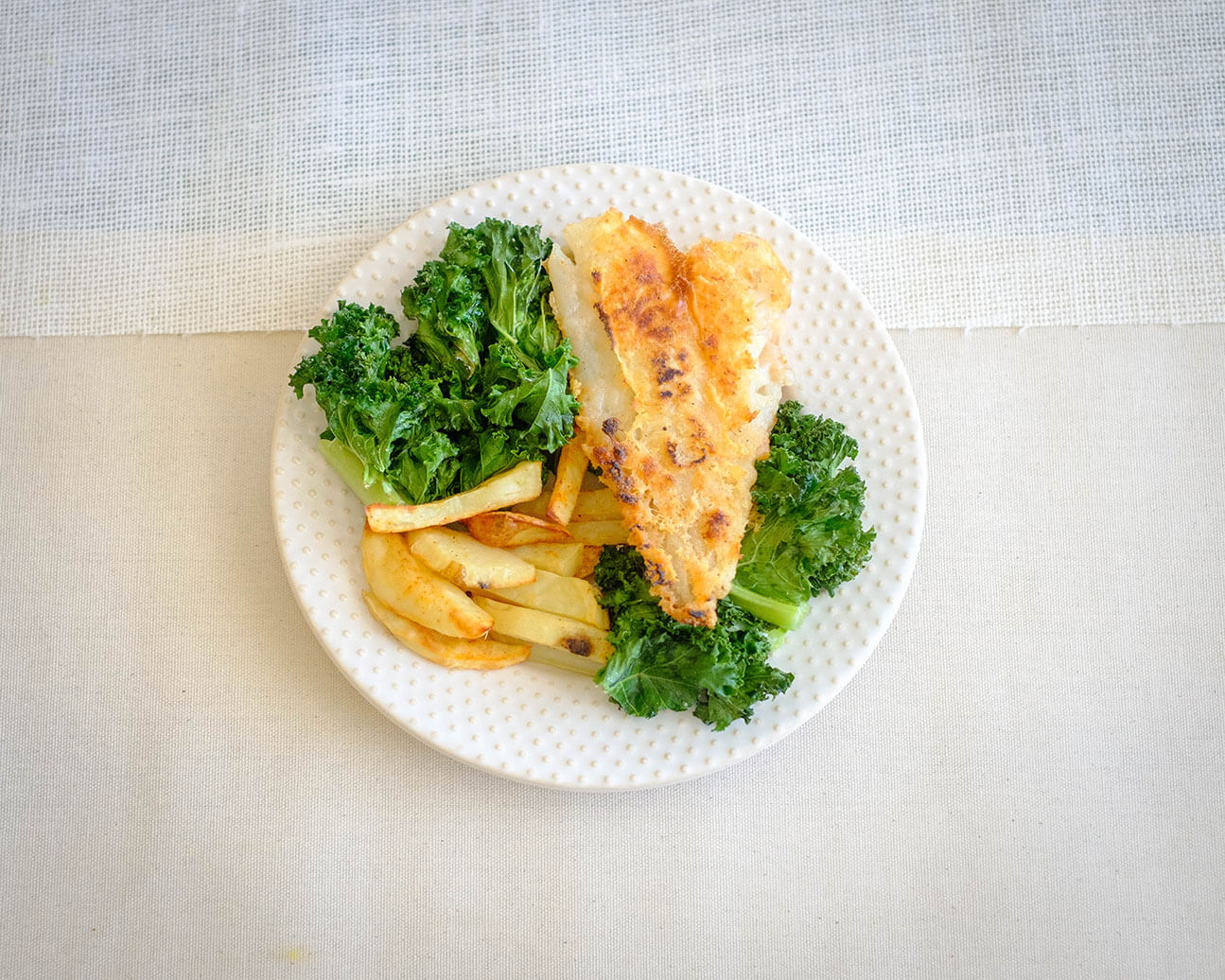 fish and kale chips