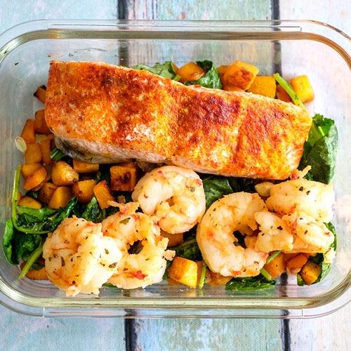 Salmon & Shrimp Salad