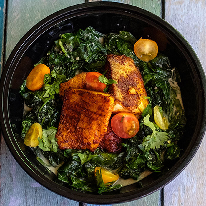 Tilapia and Spinach